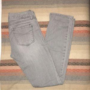 Straight-leg Gap Gray Jeans